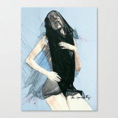 Black Veronica Canvas Print