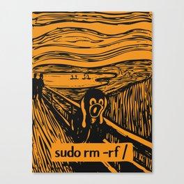 Sudo rm rf Canvas Print