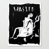 wasted rita Canvas Prints featuring WASTED by Olivier Carignan