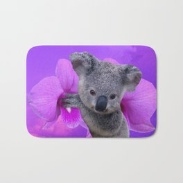 Koala and Orchid Bath Mat