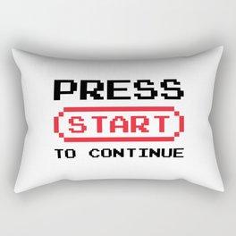 Press Start to continue Rectangular Pillow