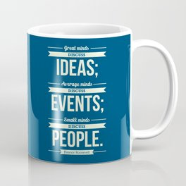Lab No. 4 - Eleanor Roosevelt Typography Print art Inspirational Quote Poster Coffee Mug