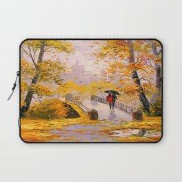 Walk in autumn after rain Laptop Sleeve