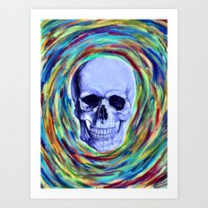 A Skull's Vortex Art Print