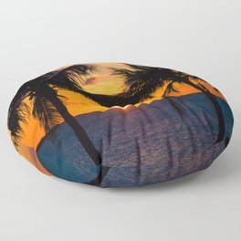 Key Largo Sunset Floor Pillow