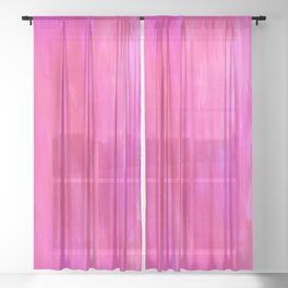 Neon Watercolor Sheer Curtain