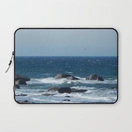 Bird over the Circle of Rocks Laptop Sleeve