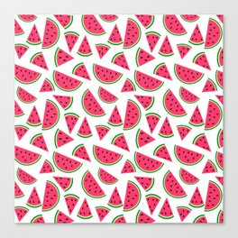 Watermelon Slices Collage Canvas Print