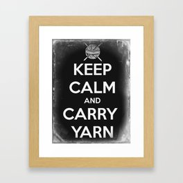 Keep Calm and Carry Yarn - Tin Panel - Knitting Framed Art Print