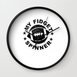 Football Gift Idea My Fidget Spinner Wall Clock