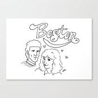 boston Canvas Prints featuring Boston by elle stone
