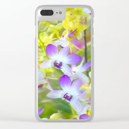 I Love Orchids ... By LadyShalene Clear iPhone Case