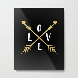 BOHO LOVE - Arrows and Adventure Metal Print