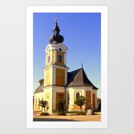 The village church of Sankt Johann am Wimberg | architectural photography Art Print