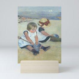 Mary Cassatt - Children Playing on the Beach Mini Art Print