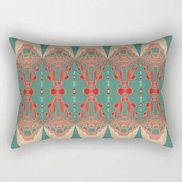 Beautiful Bohemian Turquoise Coral White Gold Pattern Rectangular Pillow