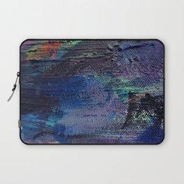 Abstract Dark Paint Strokes Laptop Sleeve