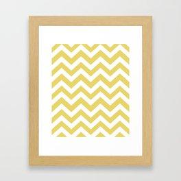 Hansa yellow - beije color - Zigzag Chevron Pattern Framed Art Print