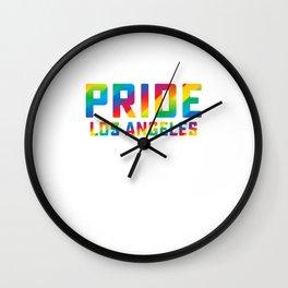Pride Los Angeles Homosexual Gay Pride Week Equality Gift Design Cool Pun Humor Wall Clock