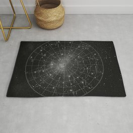 Constellation Star Map (B&W) Rug