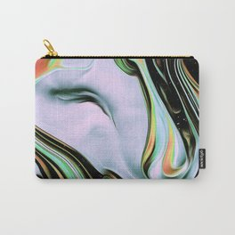 Verdun Iridescent Space Vaporwave Marble Abstract Background Green White Carry-All Pouch