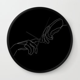Touch in dark Wall Clock