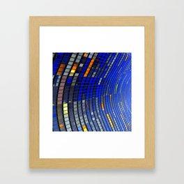 Big Blue Blocks Framed Art Print