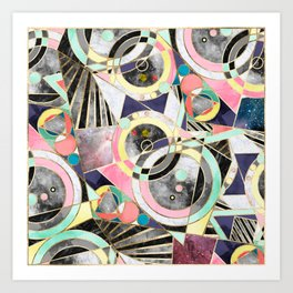 Modern geometric abstract pattern Art Print
