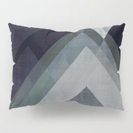 mountain art, geometric art, contemporary art print, modern art print, colorful wall art, midcentury Pillow Sham