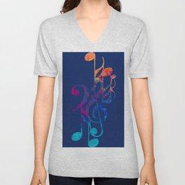 I love musical notes #6 Unisex V-Neck