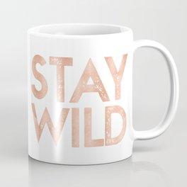 STAY WILD Rose Gold on Black Coffee Mug