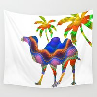 camel Wall Tapestries featuring Camel by haroulita