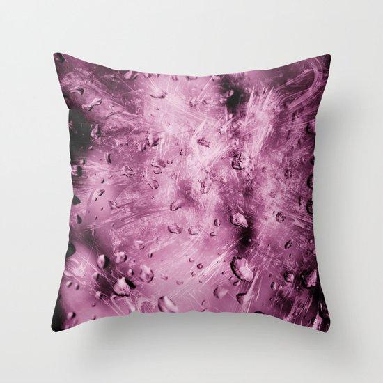 Wild drops Throw Pillow