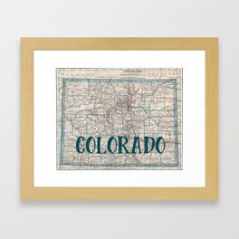 Colorado Map Framed Art Print