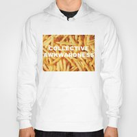 fries Hoodies featuring FRIES, ANYONE?  by Collective Awkwardness