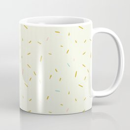 Hand painted ivory pink teal yellow gold brushstrokes confetti Coffee Mug