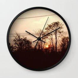 Sideway Sunset Wall Clock