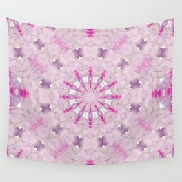 Delicate Lilac and Ultra Violet Floral Fantasy Mandala Wall Tapestry