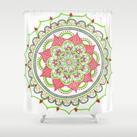 holiday Shower Curtains featuring Holiday by Katie Duker