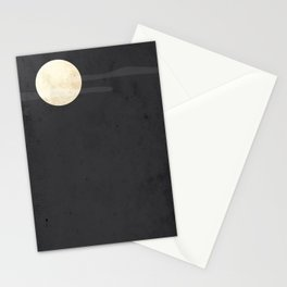 """""""Full Moon"""" Halloween Poster Stationery Cards"""
