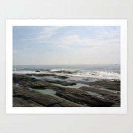 Rocks on the Coast Art Print