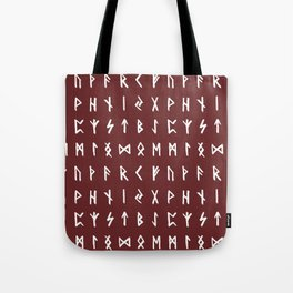 Nordic Runes // Monarch Red Tote Bag