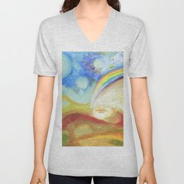 The Earth she is Alive Unisex V-Neck