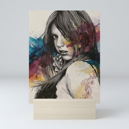 Untitled #23719 (sexy girl in black bra) Mini Art Print