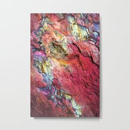 Colorful Nature : Texture Rainbow Magenta Metal Print