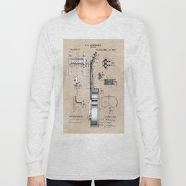 patent art Anderberg 1894 Guitar Long Sleeve T-shirt