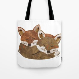 Shelter (Stacked Foxes) Tote Bag