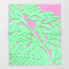 Fern Fronds IV Throw Blanket