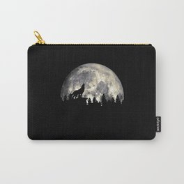 Wild Solitary Wolf Carry-All Pouch