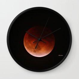 Blood Moon through Southern California Haze Wall Clock